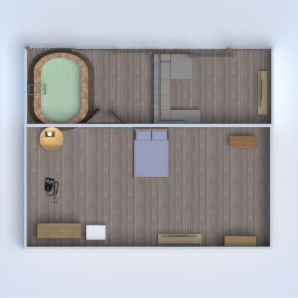планировки спальня гараж 3d
