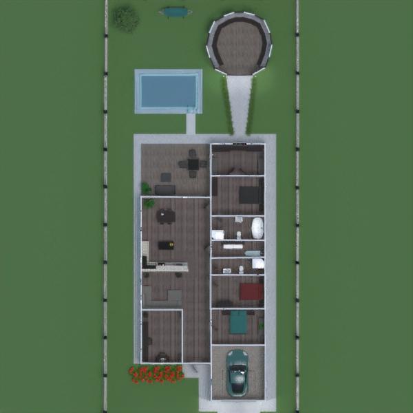 floorplans house terrace architecture 3d