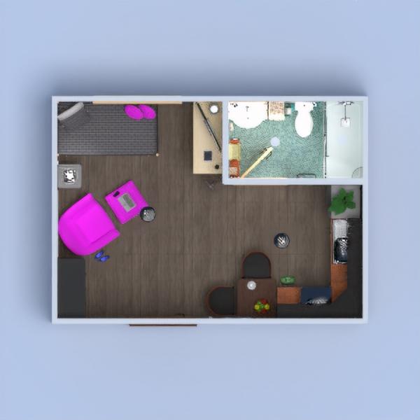 floorplans appartamento decorazioni monolocale 3d