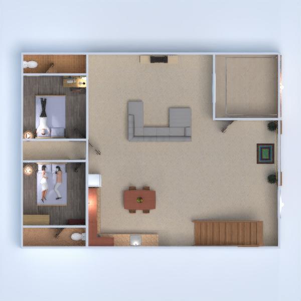 floorplans dom łazienka pokój dzienny kuchnia architektura 3d