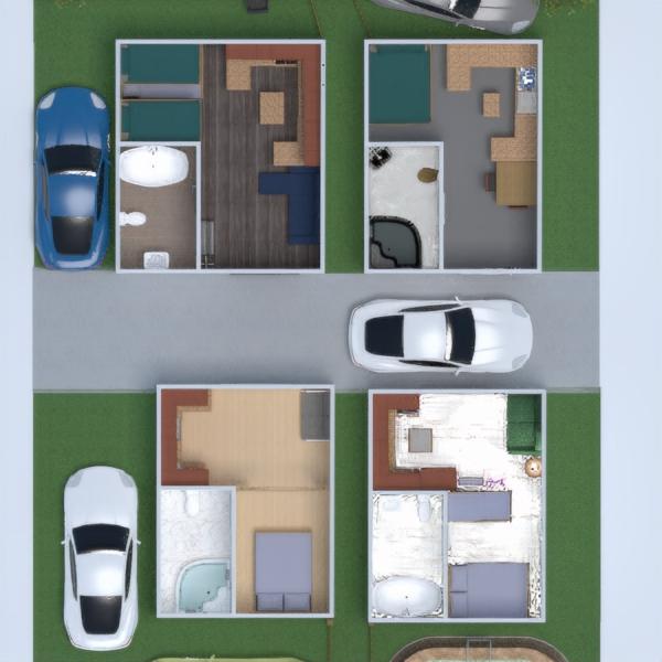 floorplans casa casa de banho dormitório quarto área externa 3d