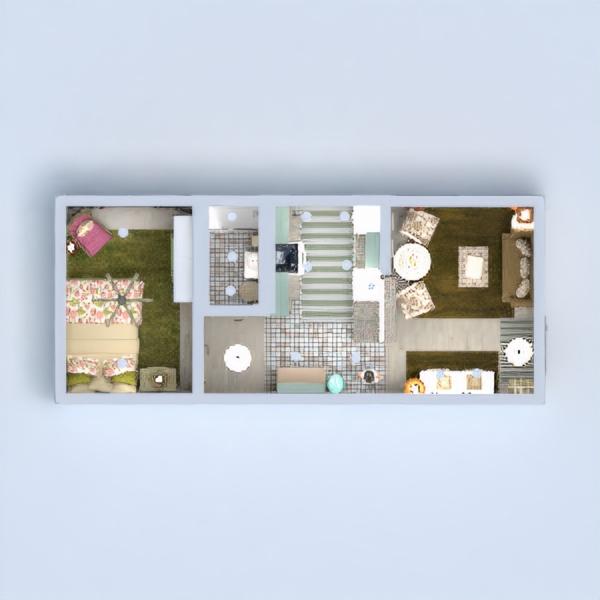 floorplans apartamento decoración cocina 3d