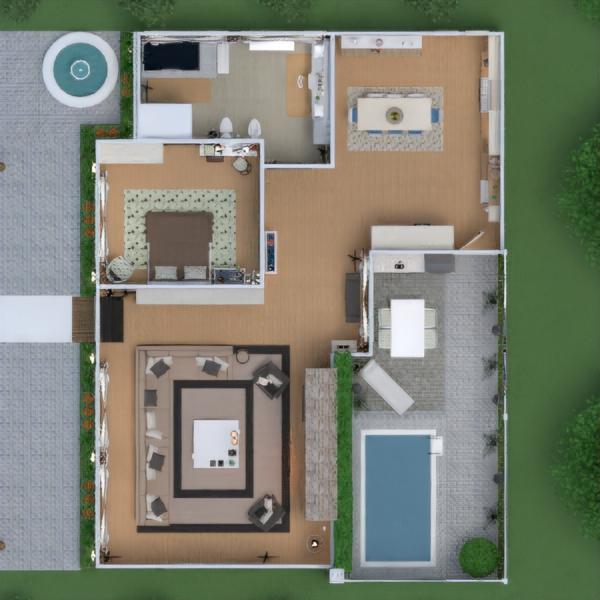 floorplans namas terasa baldai dekoras pasidaryk pats vonia svetainė virtuvė eksterjeras apšvietimas renovacija kraštovaizdis namų apyvoka kavinė valgomasis аrchitektūra prieškambaris 3d