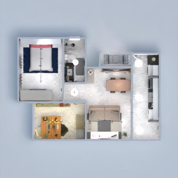 floorplans appartamento arredamento decorazioni angolo fai-da-te famiglia 3d