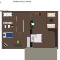 floorplans appartamento casa veranda bagno camera da letto saggiorno garage cucina esterno vano scale 3d