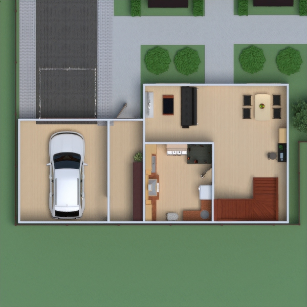 floorplans house furniture bathroom bedroom living room garage kitchen household dining room 3d