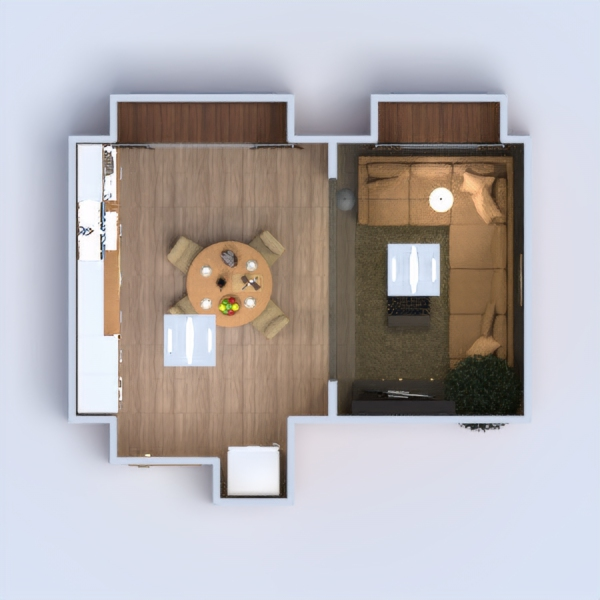 floorplans living room kitchen 3d