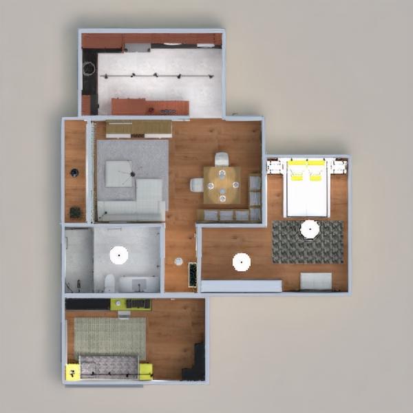 floorplans appartamento camera da letto cucina illuminazione architettura 3d