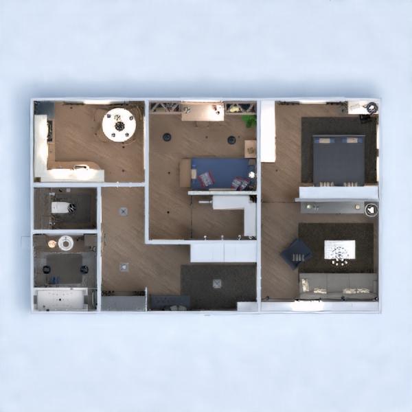 floorplans appartamento decorazioni bagno camera da letto saggiorno cucina cameretta illuminazione rinnovo ripostiglio 3d