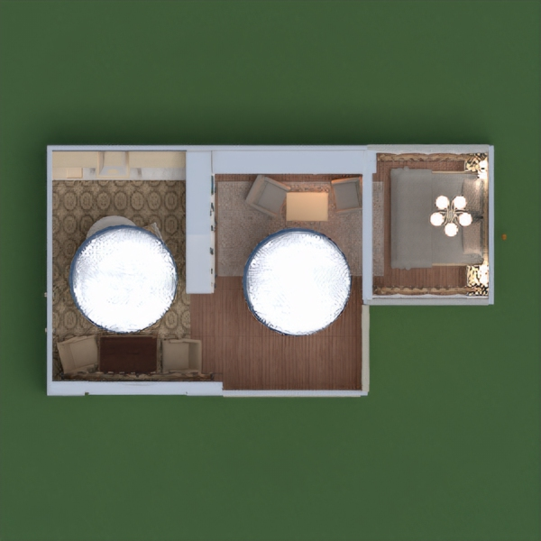 floorplans butas baldai dekoras pasidaryk pats miegamasis svetainė virtuvė apšvietimas sandėliukas studija 3d