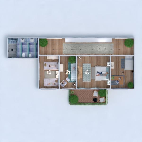 floorplans house furniture bedroom living room kitchen architecture 3d
