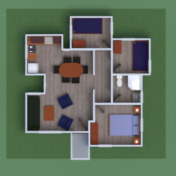 floorplans casa muebles cocina habitación infantil arquitectura 3d