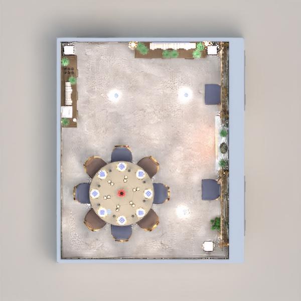 планировки дом мебель декор освещение столовая 3d