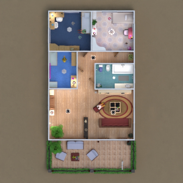 floorplans дом ванная спальня гостиная кухня детская ландшафтный дизайн 3d