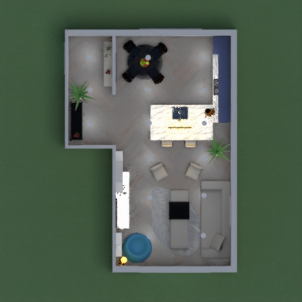 floorplans maison salon cuisine entrée 3d