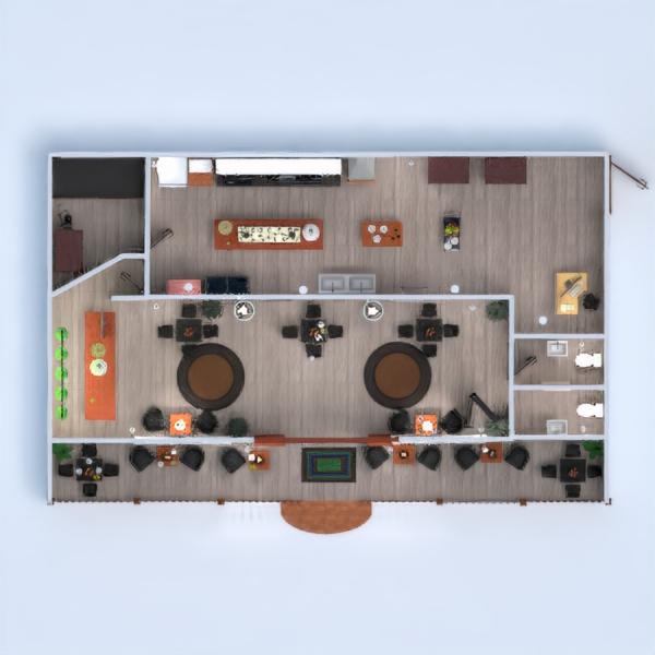 floorplans taras kuchnia kawiarnia jadalnia 3d
