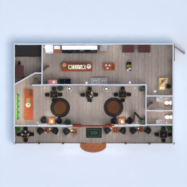 floorplans varanda inferior cozinha cafeterias sala de jantar 3d
