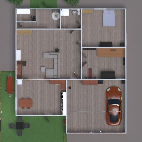 floorplans house terrace bathroom living room garage 3d