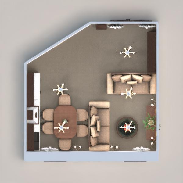 floorplans pokój dzienny kuchnia 3d