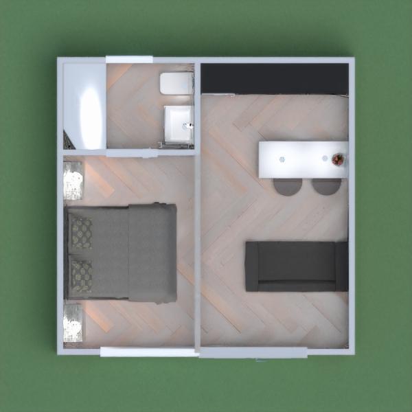 floorplans casa dormitorio salón cocina estudio 3d