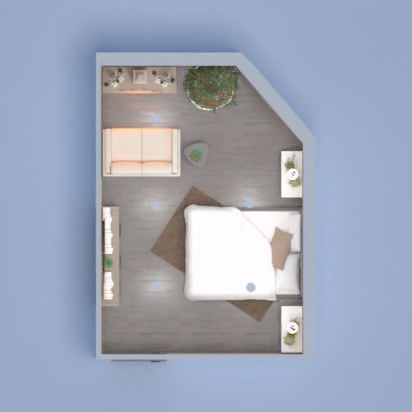 floorplans dormitorio salón 3d