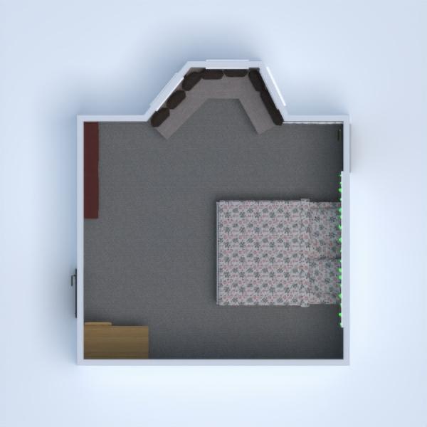 floorplans baldai dekoras miegamasis biuras sandėliukas 3d