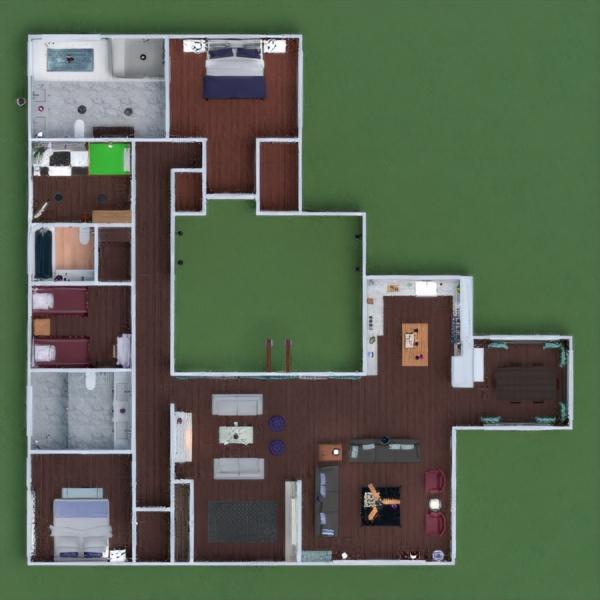 floorplans casa decoração faça você mesmo casa de banho dormitório quarto cozinha área externa quarto infantil paisagismo patamar 3d