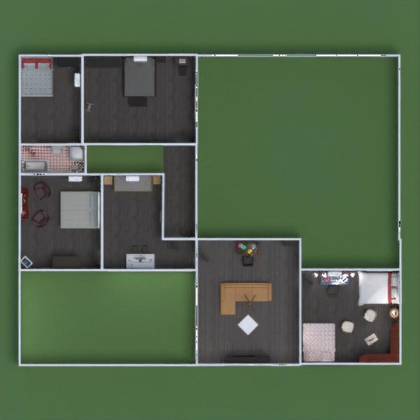 floorplans butas namas terasa 3d