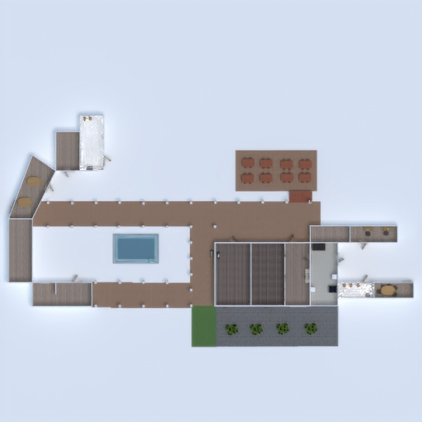 floorplans terrace outdoor cafe 3d