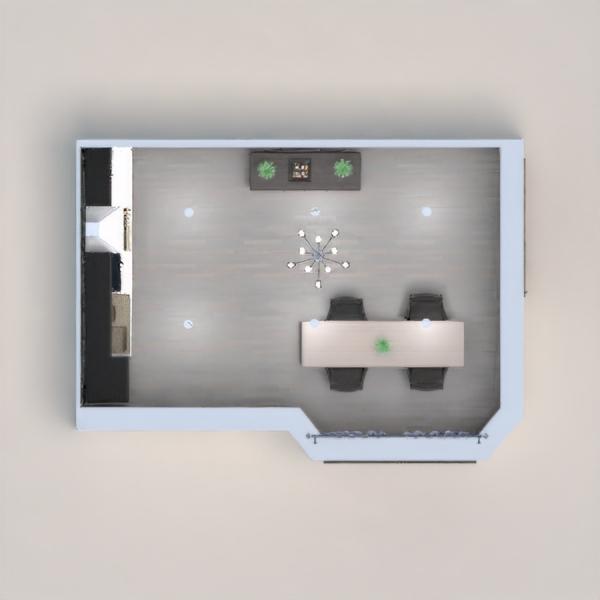 floorplans butas namas dekoras virtuvė valgomasis 3d