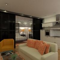 floorplans appartamento casa veranda camera da letto saggiorno cucina esterno cameretta paesaggio 3d