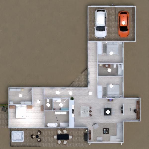 floorplans namas terasa biuras apšvietimas аrchitektūra 3d