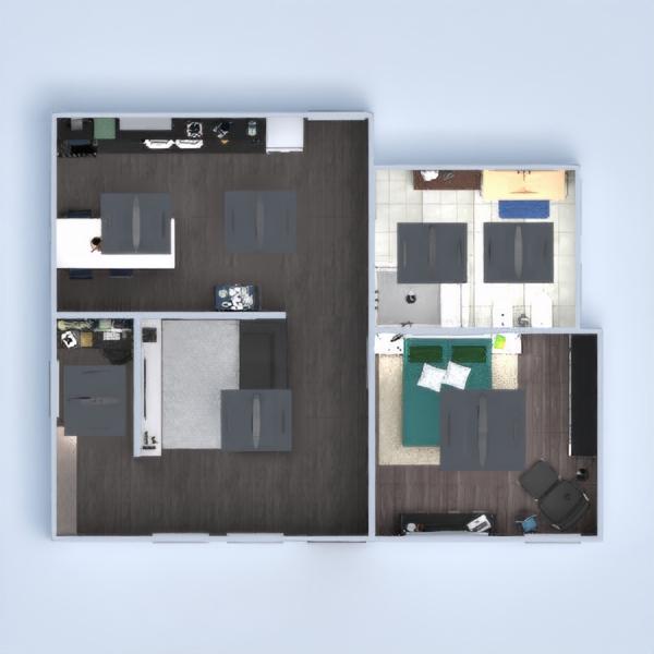 planos casa muebles decoración salón cocina despacho hogar cafetería comedor 3d