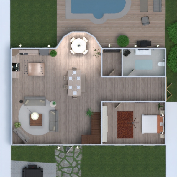 floorplans house landscape household 3d