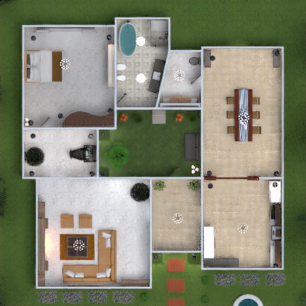 floorplans house outdoor 3d