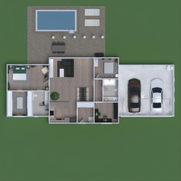 floorplans casa terraza muebles decoración dormitorio 3d
