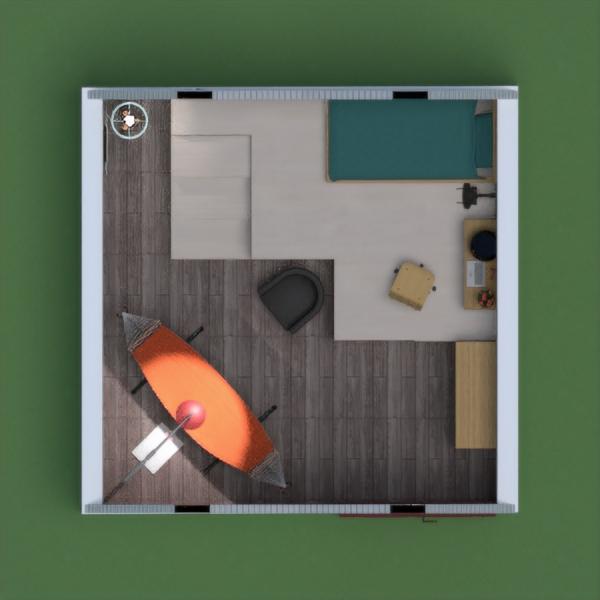 floorplans apartment furniture decor bedroom studio 3d
