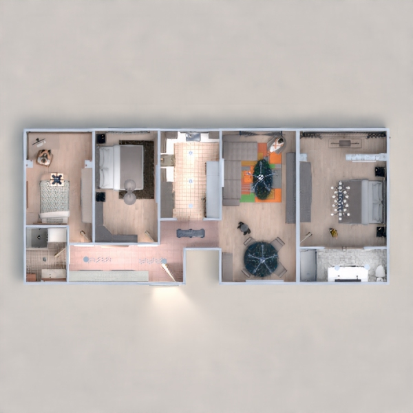 floorplans appartement chambre d'enfant rénovation studio 3d