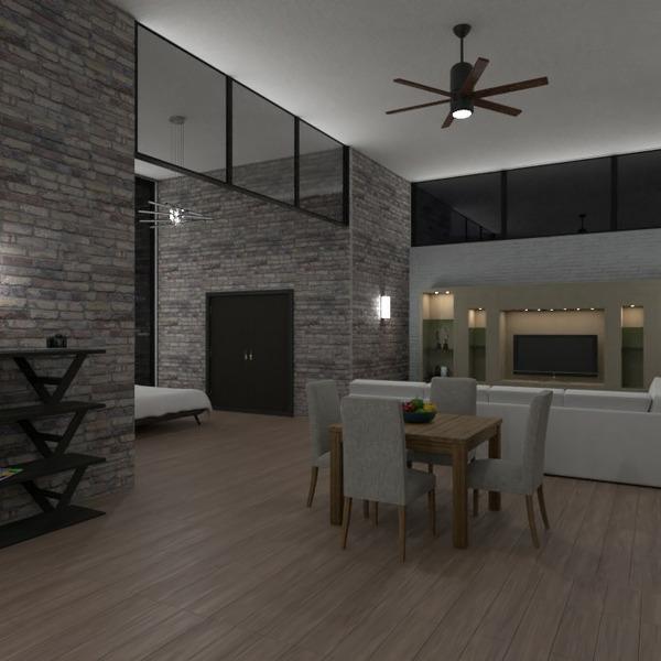 planos apartamento muebles decoración iluminación estudio 3d