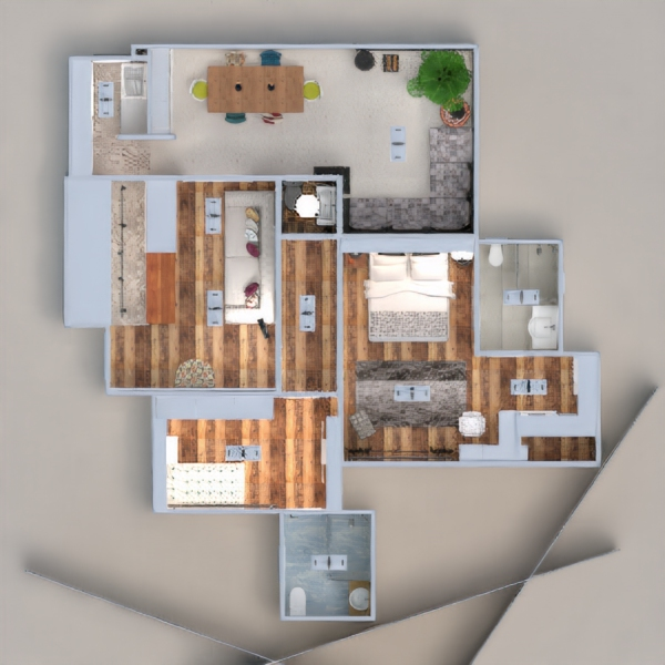 floorplans apartment terrace decor bathroom bedroom kitchen lighting household dining room architecture 3d