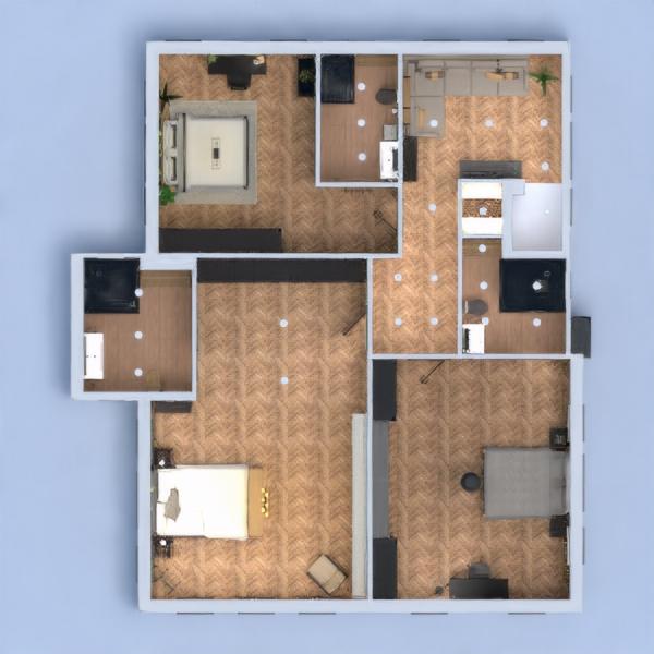 floorplans maison décoration salle de bains chambre à coucher 3d