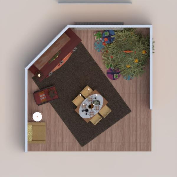 floorplans dom meble pokój dzienny oświetlenie jadalnia 3d