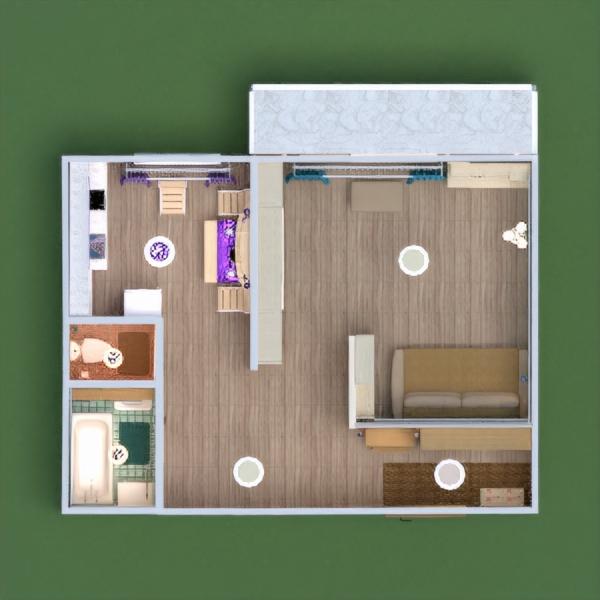 floorplans butas baldai dekoras pasidaryk pats vonia miegamasis virtuvė apšvietimas sandėliukas prieškambaris 3d