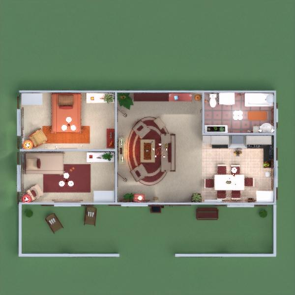 floorplans дом терраса декор ванная спальня гостиная кухня освещение ландшафтный дизайн техника для дома 3d