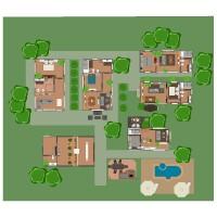 floorplans apartment house terrace decor bathroom bedroom living room office 3d