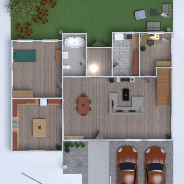 floorplans salon cuisine maison salle à manger studio 3d