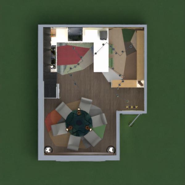 floorplans küche café esszimmer 3d
