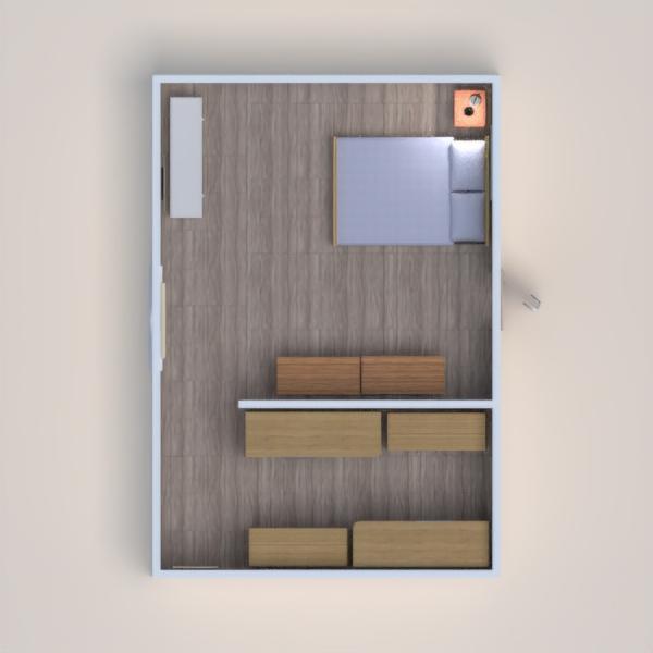 floorplans varanda inferior quarto utensílios domésticos 3d
