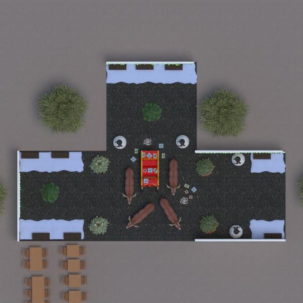 floorplans área externa 3d