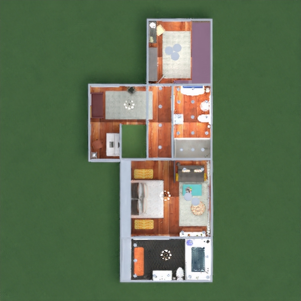 floorplans house terrace furniture decor bedroom living room kitchen outdoor office lighting household dining room architecture storage studio entryway 3d